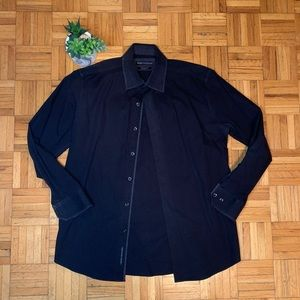 $6 ADD ON ITEM Report Collection Black Dress Shirt
